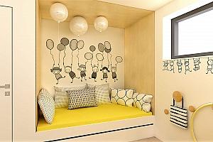 Rodinný dům - dětské pokoje