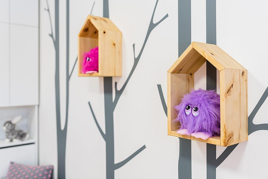 Dětský pokoj – poličky, doplňky a dekorace