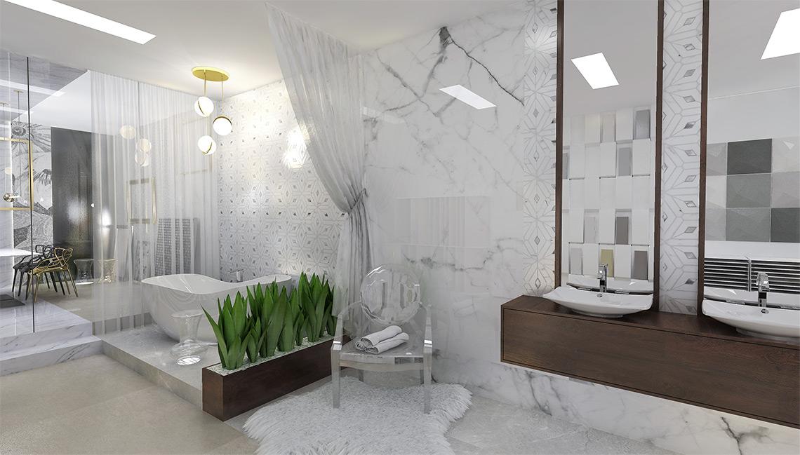 Luxusní showroom obkladů a dlažeb – exkluzivní koupelny a sanita