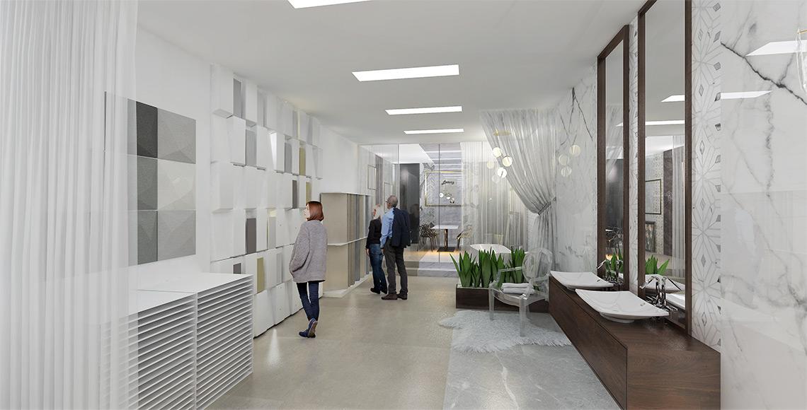 Luxusní vzorkovna obkladů a dlažeb – exkluzivní koupelny a sanita, velkoformátové obklady a mozaiky